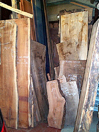 Photograph of some timber on sale